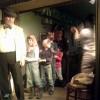 Uczniowie w teatrze.