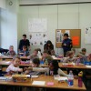 Lekcja plastyki w prywatnej podstawówce w Łodzi.