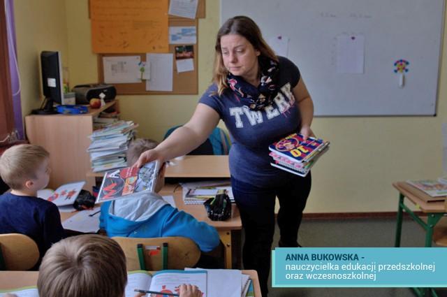 Anna Bukowska nauczycielka z MSPEI w Łodzi.