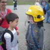 Uczniowie z wizytą na lotnisku.