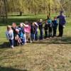 Aktywna lekcja uczniów na dworze