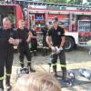 Uczniowie an pikniku strażackim podczas Family Day