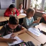 Lekcja matematyki w MSPEI w Łodzi.