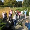 Uczniowie w Ogrodzie Botanicznym w Łodzi