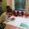 Lekcja plastyki w MSPEI w Łodzi