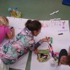 Zajęcia plastyczne w szkole podstawowej.